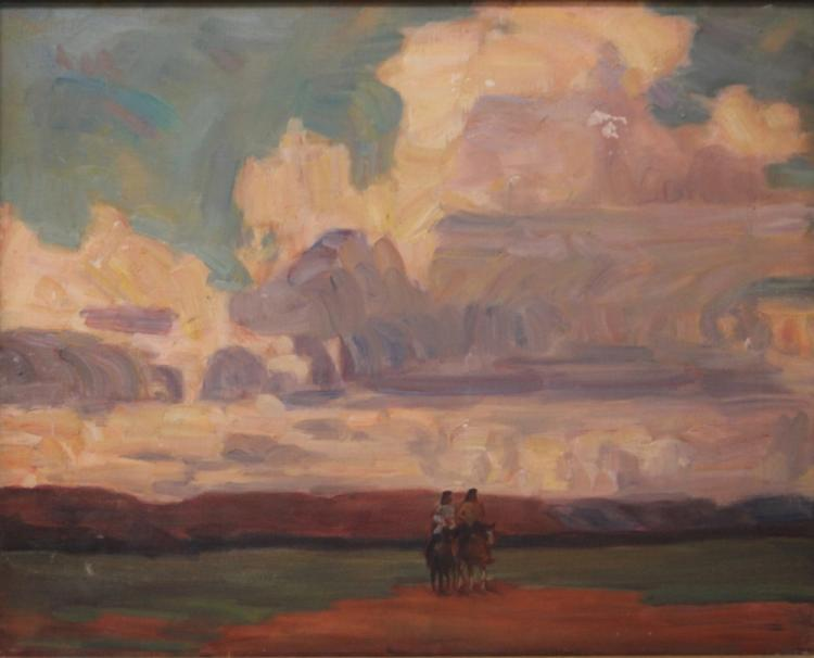 EARLY 20TH CENTURY OIL ON CANVAS, LANDSCAPE
