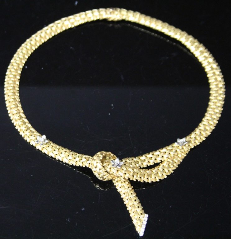 LADY'S 18KT YELLOW GOLD NECKLACE