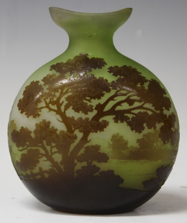 GALLE VASE WITH LANDSCAPE SCENE