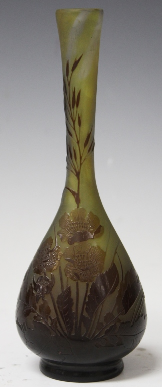 GALLE FLORAL VASE WITH STEM NECK