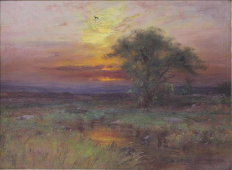 ALBION HARRIS BICKNELL (1837-1915), OIL ON CANVAS