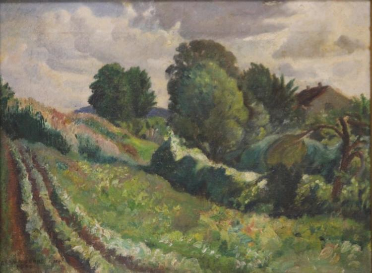 GERALD LEAKE (1885- 1975), OIL ON CANVAS