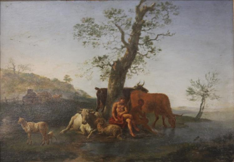 FRENCH 18TH CENTURY OIL ON BOARD