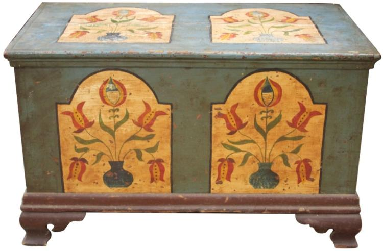 EARLY AMERICAN 18TH/19TH CENTURY BLANKET CHEST