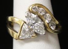 LADY'S 18KT MARQUISE CUT DIAMOND, 1.10 CTS.