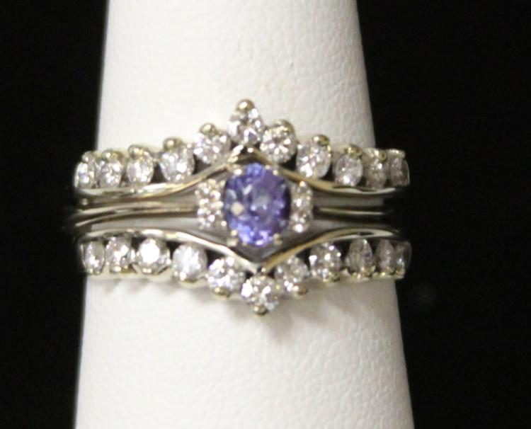 LADY'S 18KT TANZANITE DIAMOND RING