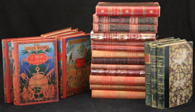 COLLECTION OF (24) JULES VERNE BOOKS