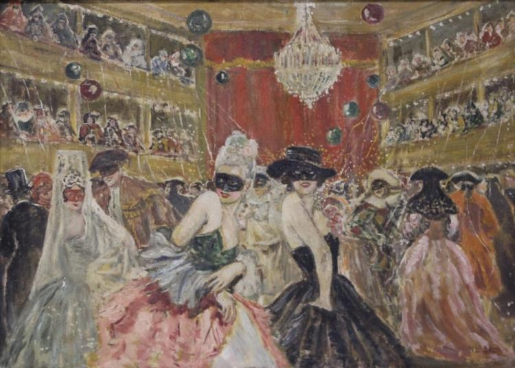 VINCENZO LA BELLA (1872-1954), OIL ON BOARD