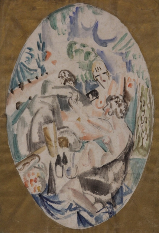 ANDRE FAVORY (1888-1937), WATERCOLOR ON PAPER