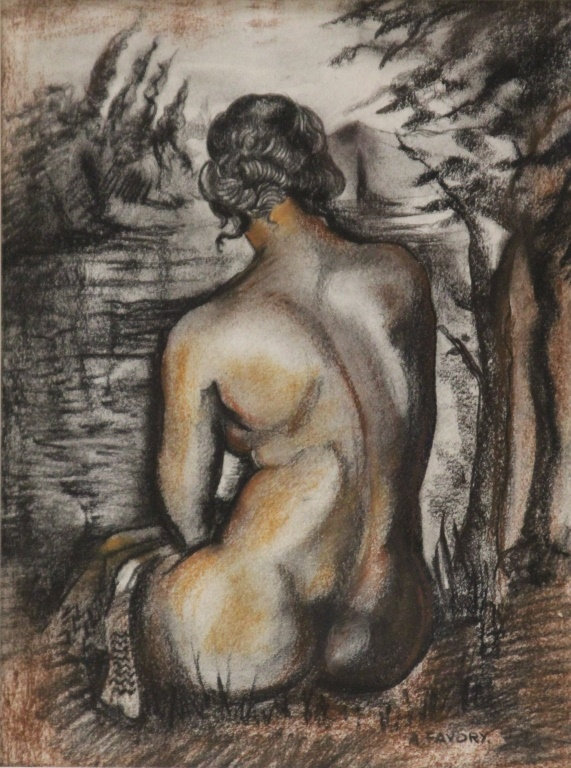 ANDRE FAVORY (1888-1937), PASTEL ON PAPER