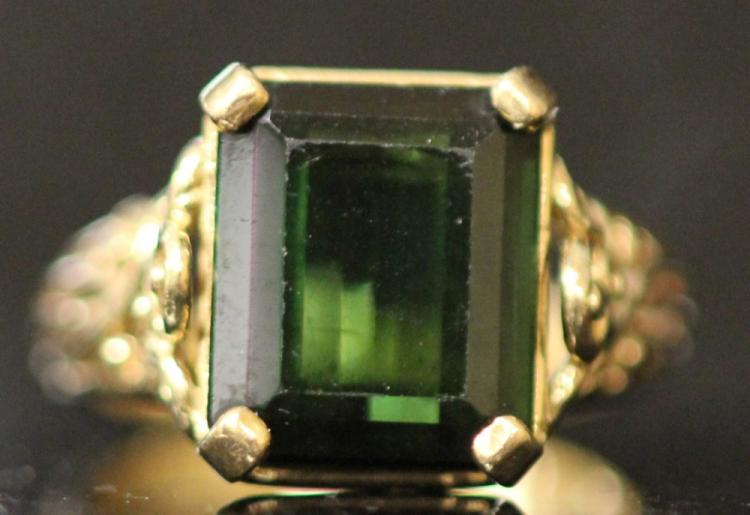 LADY'S 14KT TOURMALINE RING