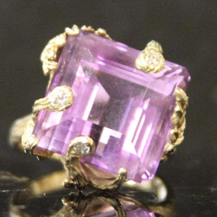 LADY'S 14KT AMETHYST RING