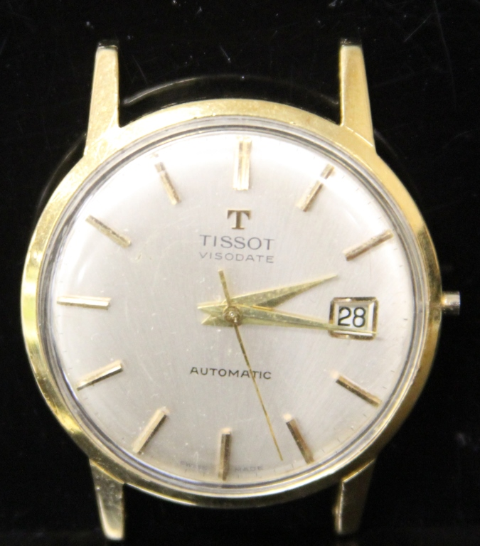 TISSOT 14KT MENS WRISTWATCH, NO BAND