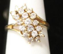 LADY'S 14KT DIAMOND RING