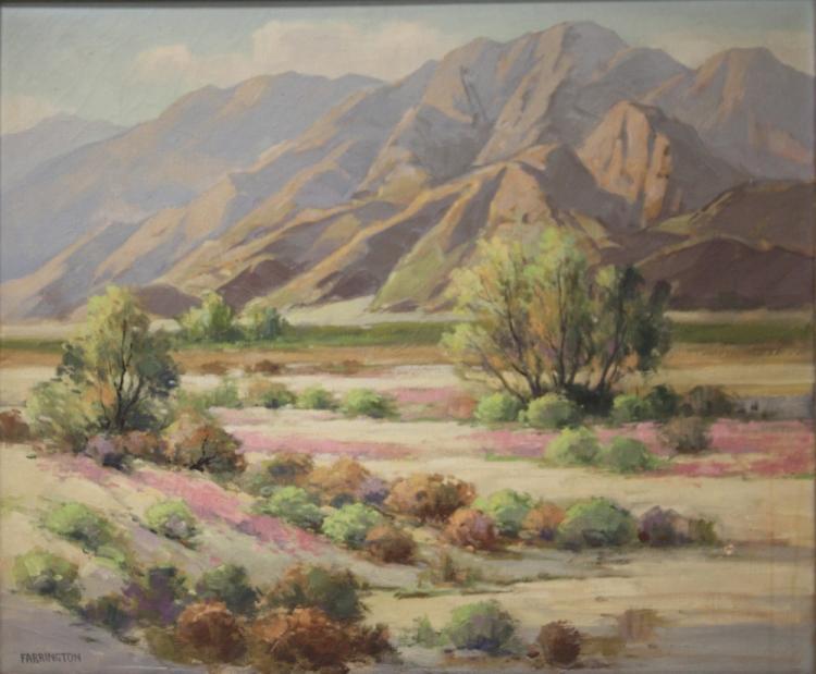 WALTER FARRINGTON MOSES (1874-1947), OIL ON CANVAS