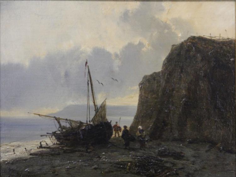 S.HEINTZ, OIL ON BOARD, SIGNED- 19TH CENTURY
