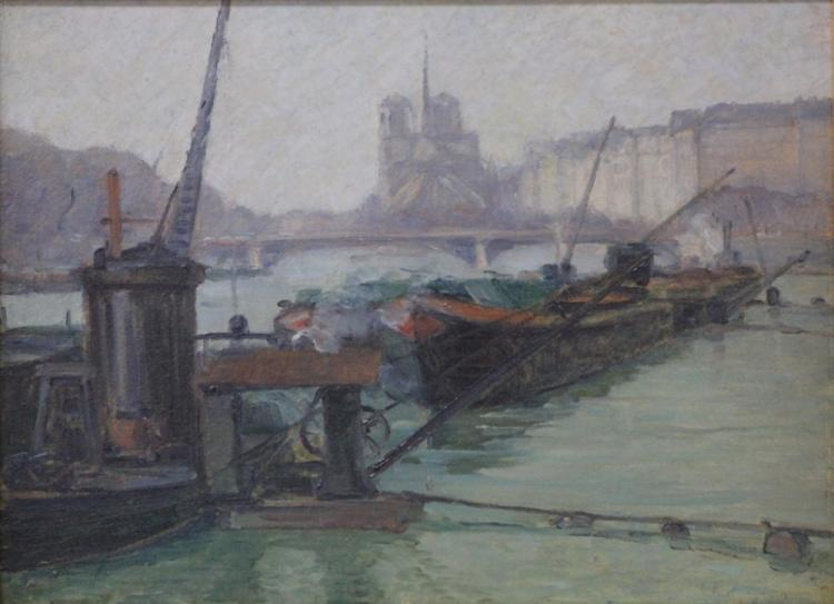 BOIGEGRAIN, FRENCH OIL ON BOARD