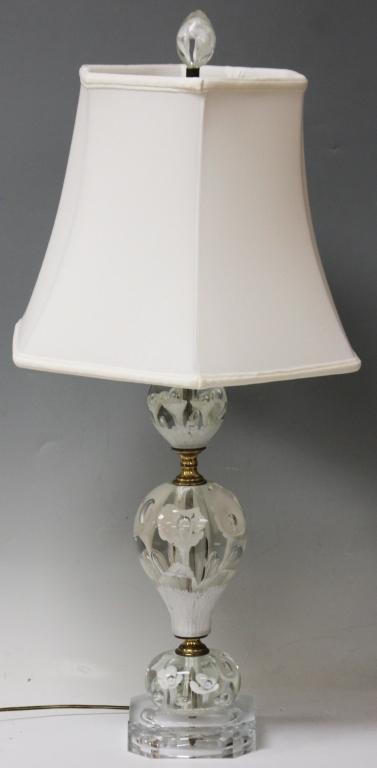 JOE RICE PAPERWEIGHT GLASS LAMP