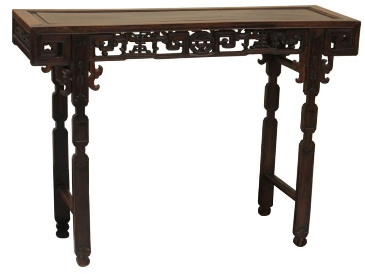 CHINESE 19TH CENTURY ROSEWOOD ALTAR TABLE