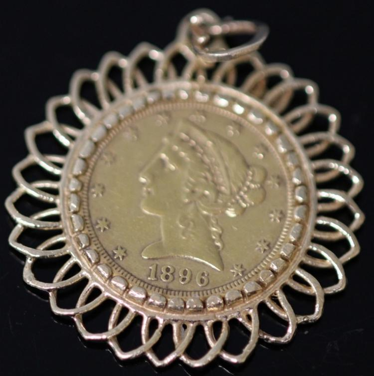 1896 AMERICAN LIBERTY COIN