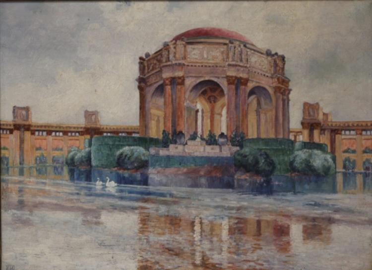 EARLY 20TH CENTURY OIL ON CANVAS, PALACE FINE ART