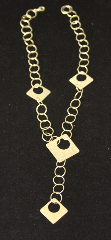 LADY'S GEOMETRIC DESIGN 14KT NECKLACE