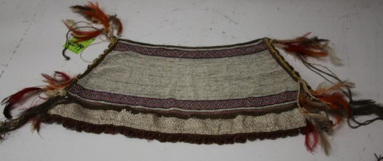 EARLY PLAINS AMERICAN INDIAN BEADED HEADDRESS