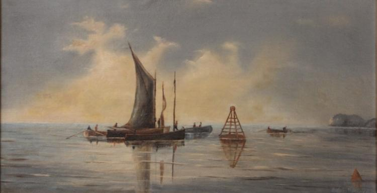 E.L. TUTTLE, OIL ON CANVAS- 1891