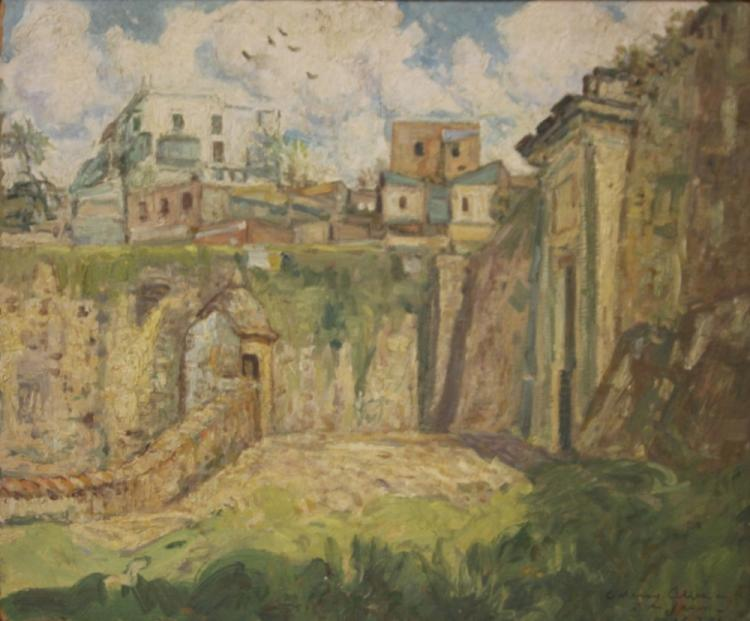 C. HARRY ALLIS (1870-1938), OIL ON BOARD