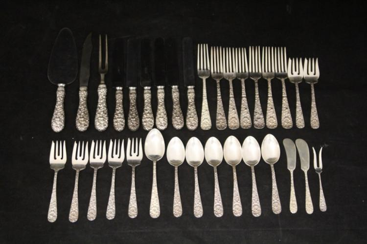 STEIFF STERLING SILVER FLATWARE SET