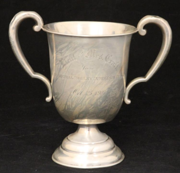 VINTAGE STERLING SILVER TROPHY CUP