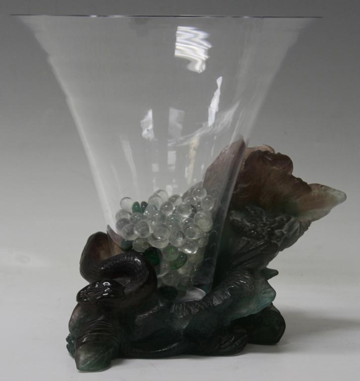 DAUM ART GLASS VASE