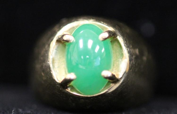 CHINESE JADE 14KT RING