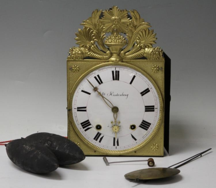 FRENCH WALL CLOCK, 19TH CENTURY