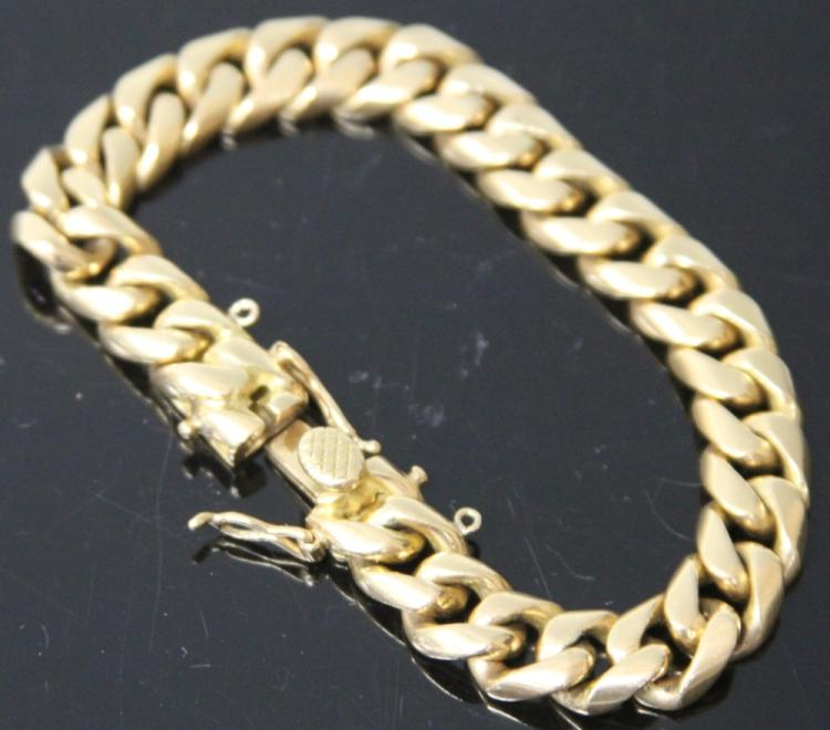 MEN'S 18KT CHAIN BRACELET