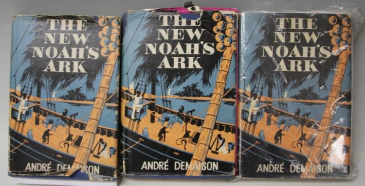 LOT OF (3) ANDRE DEMAISON, THE NEW NOAH'S ARK