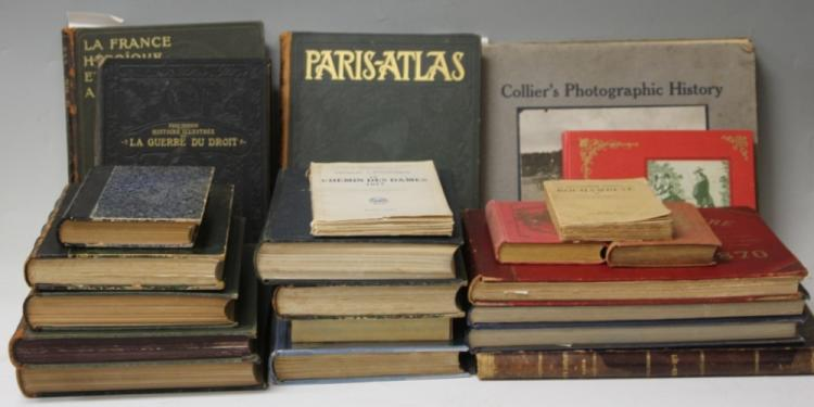 LOT OF (22) 19TH TO 20TH CENTURY FRENCH BOOKS