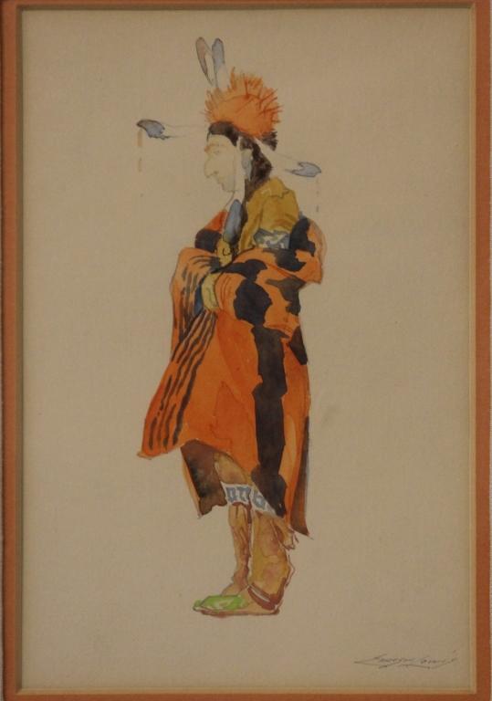 EMERSON LEWIS (1892-1958), WATERCOLOR