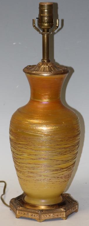 LOETZ STYLE ART GLASS LAMP/VASE