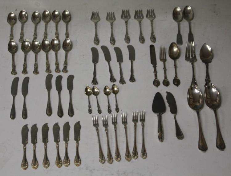 LOT OF (53) STERLING SILVER FLATWARE