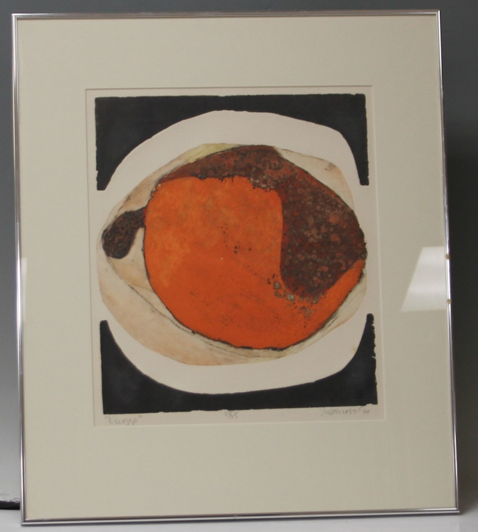 SIGNED JAPANESE MID-CENTURY LITHOGRAPH