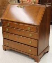 18TH C. AMERICAN CHIPPENDALE MAPLE WRITING DESK
