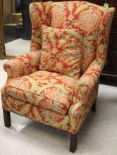 19TH C. CHIPPENDALE STYLE WING BACK CHAIR