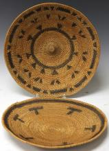 LOT OF (2) NATIVE AMERICAN WOVEN BASKETS, 1930'S