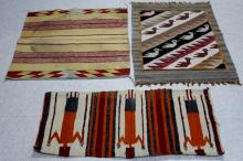 LOT OF (3) VINTAGE SOUTHWEST WEAVINGS