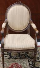 18TH C. FRENCH CARVED ARM CHAIR