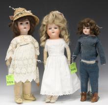 LOT OF (3) VINTAGE DOLLS, 18