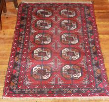 RED TURKISH STYLE AREA RUG, 33
