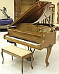 STEINWAY LOUIS XV WALNUT GRAND             PIANO             with PDS-128 Disc player 1984,             serial #488840, model #M-501A             estimate 20,000-30,000