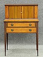 SHERATON STYLE MAHOGANY INLAID             WRITING DESK             circa early 20th century             height- 42